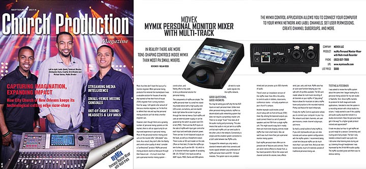 Church Production Magazine: myMix Review by Nolan Rossi